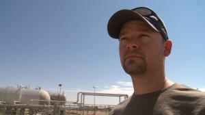 ShaneDavis in front of Compressor Station